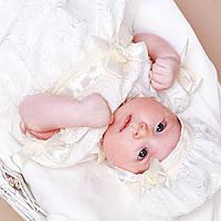 Детский берет Иза Изольда от Miminobaby 44-48 см шампань