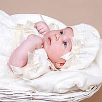 Детский берет Иза Изольда от Miminobaby 40-44 см шампань