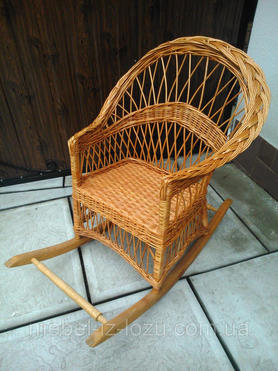 """Кресло-качалка """"Обычная"""" - Мебель из лозы --- Интернет-магазин изделий из лозы в Закарпатской области"""