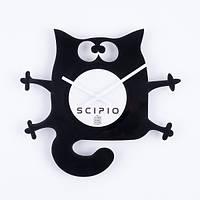 Виниловые часы настенные Котяра 24,5 х 28 см