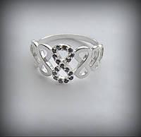 1046 Серебряное кольцо Бесконечность 925 пробы от украинского производителя
