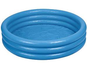 Дитячий надувний басейн для малюків від 2-х до 5-ти років «Синій кристал» Intex 58426 (діаметр 147 см), синій
