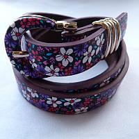 Ремень женский цветы кожзам 20мм купить оптом дешево в Одессе 7км модные качественные