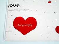 Подарочная бумага Любовь 10 листов