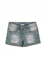 Стильные шорты с камнями и цепочками, итальянский бренд нарядной одежды Byblos, 140см