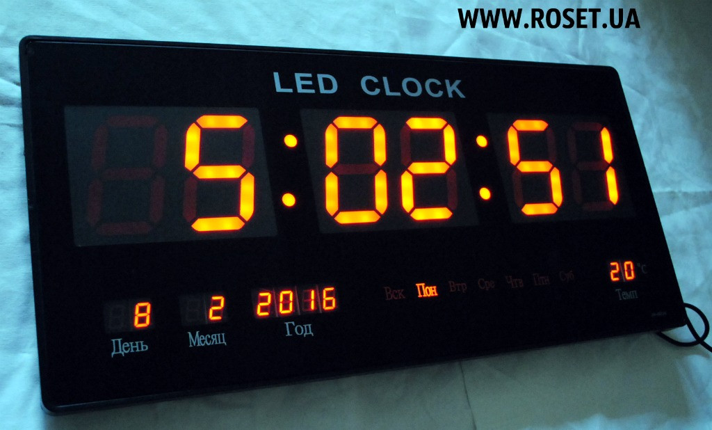 Настенные электронные часы LED Digital Clock JH 4622-4 RED -  Интернет-магазин « 45d79a7e7da