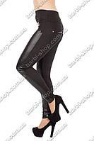 Женские приталенные брюки под кожу 744