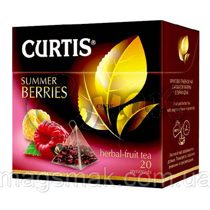 Чай Curtis Summer Berries (малина/шиповник), 1,7 Г*20 ПАК. В ПИРАМИДКАХ, фото 2