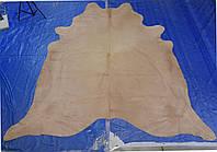 Большая, красивая крашенная однотонная бежево телесного цвета напольная шкурка, фото 1