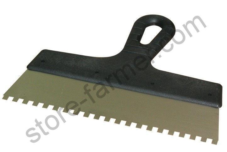 Шпатель зубчатый ПОЛЬША 200мм, зубья 6х6  мм