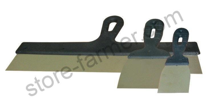 Шпатель с пластиковой ручкой, нержавеющий ПОЛЬША 200 мм
