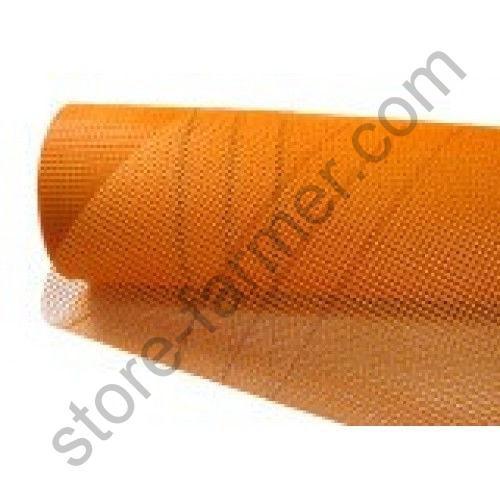 Сетка фасадная BUDOWA (5*5мм), 1х50м, 160 г/м2, оранжевая
