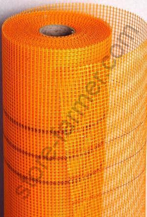 Сетка фасадная СЕТКА (5*5мм), 1х50м, 160 г/м2, оранжевая