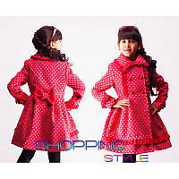 Весеннее пальто кашемировое для девочки