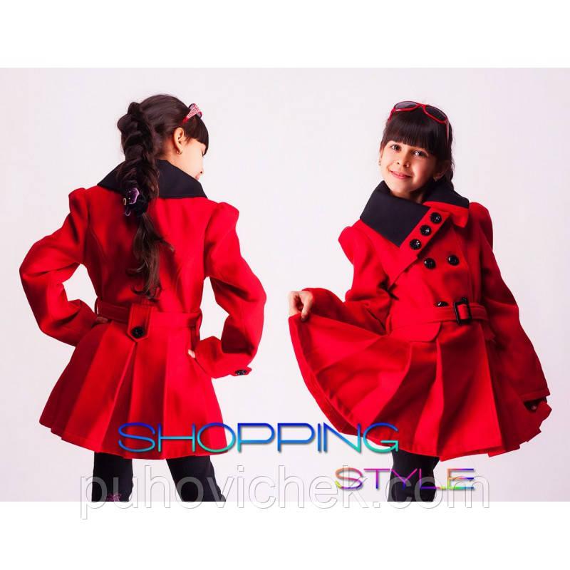 Красивое пальто для девочки кашемировое