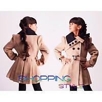 Весеннее пальто для девочки модное