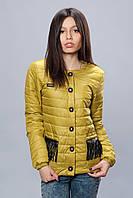 Женская демисезонная куртка. Код модели К-68-12-16. Цвет оливковый.