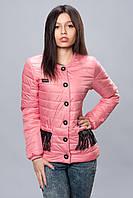 Женская демисезонная куртка. Код модели К-68-12-16. Цвет пудровый розовый.
