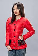 Женская демисезонная куртка. Код модели К-68-12-16. Цвет красный.