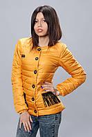 Женская демисезонная куртка. Код модели К-68-12-16. Цвет горчица.