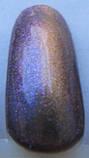 ГЕЛЬ-ЛАК  ХАМЕЛЕОН КОШАЧИЙ ГЛАЗ MY NAIL 9МЛ цвет пурпурный с переливом в фиолетовый с золотым глитером, фото 2