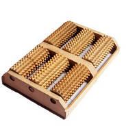 Трехрядный деревянный массажер для двух ступней