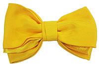 Галстук бабочка Atteks тройная желтая - 1210
