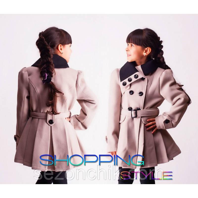 Пальто на девочку кашемировое