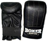 Перчатки боксерские (снарядные/битки) Boxer, кожа, размер L