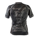 Рашгард Peresvit Immortal Silver Force Rashguard Short Sleeve Black Rain, фото 3
