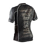 Рашгард Peresvit Immortal Silver Force Rashguard Short Sleeve Black Rain, фото 4