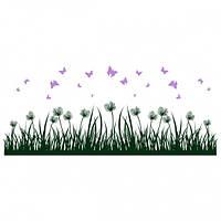 Наклейка виниловая интерьерная Grass