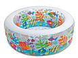 """Детский надувной круглый бассейн """"Аквариум"""" 58480 NP (152*56 см) с рыбками, фото 3"""