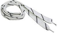 Шнурки широкие 20мм/120см, Белый в черную полоску