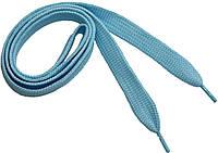 Шнурки широкие 20мм/120см, Голубой