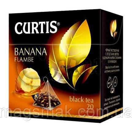 Чай Curtis Banana Flambe (банановый), 1,8 Г*20 ПАК. В ПИРАМИДКАХ, фото 2