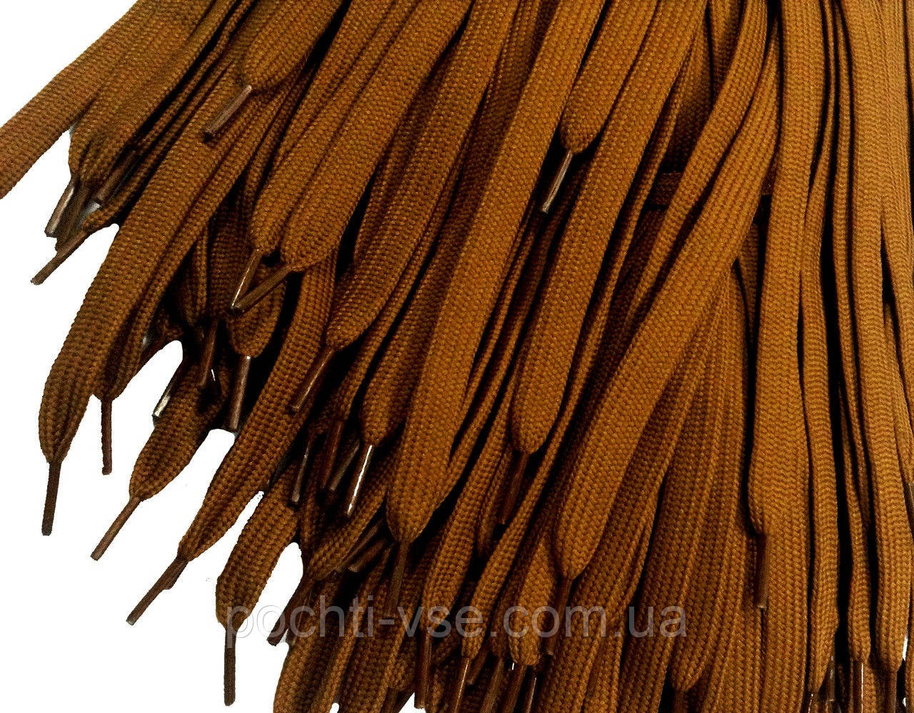 Шнурки для обуви (100см) плоские, коричневые - Оптовая компания Почти всё в Харькове
