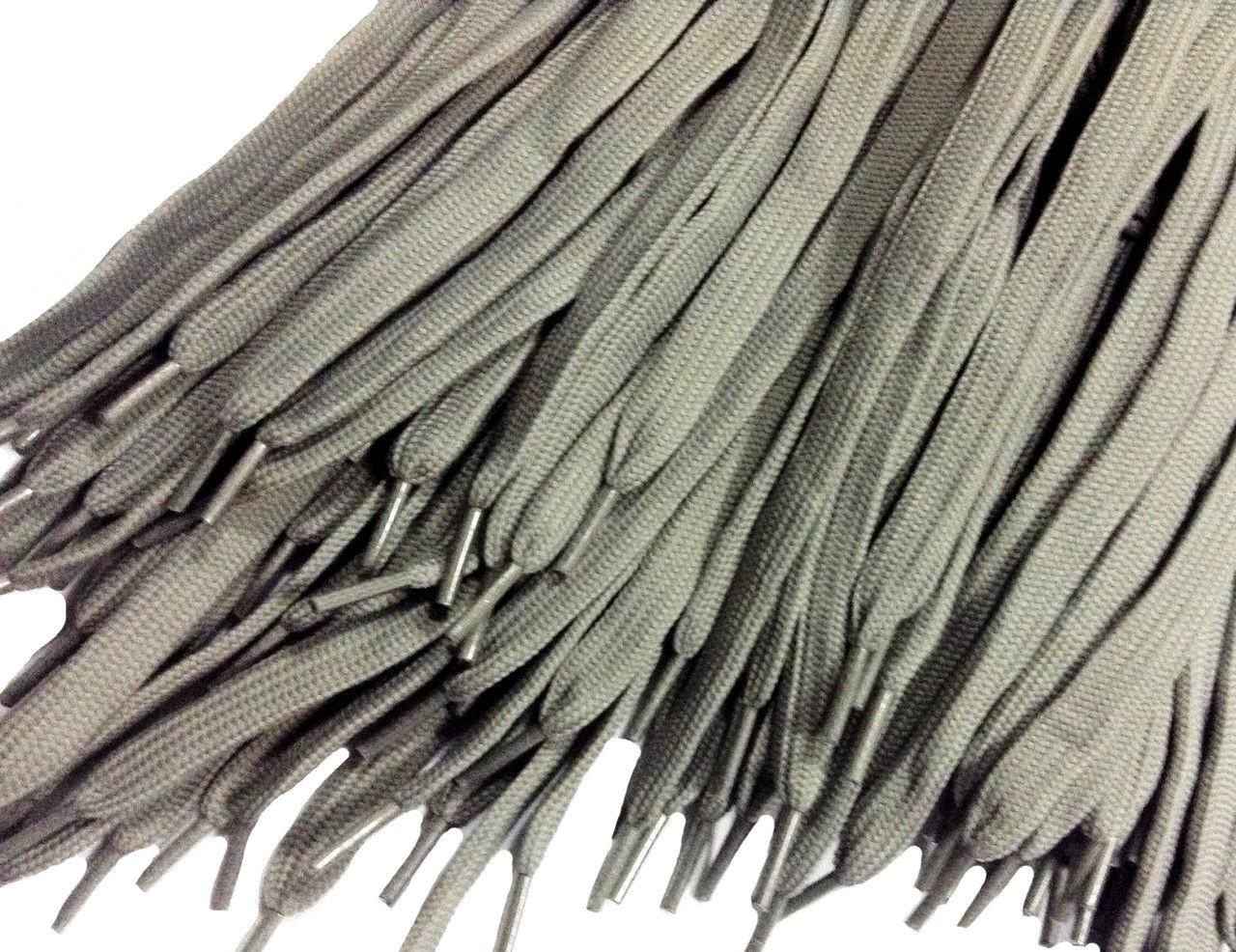 Шнурки для обуви (100см) плоские, светло-серые