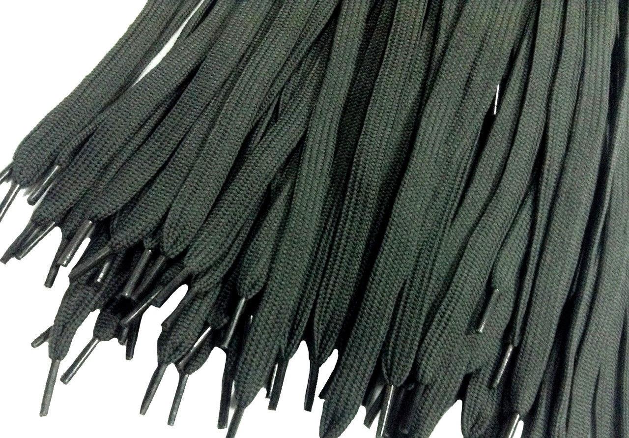 Шнурки для обуви (100см) плоские, серые