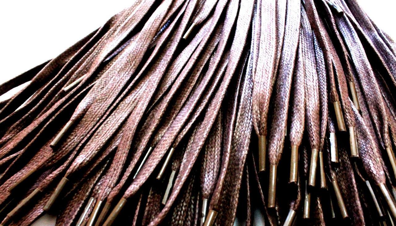 Шнурки для обуви с пропиткой (70см) плоские, коричневые