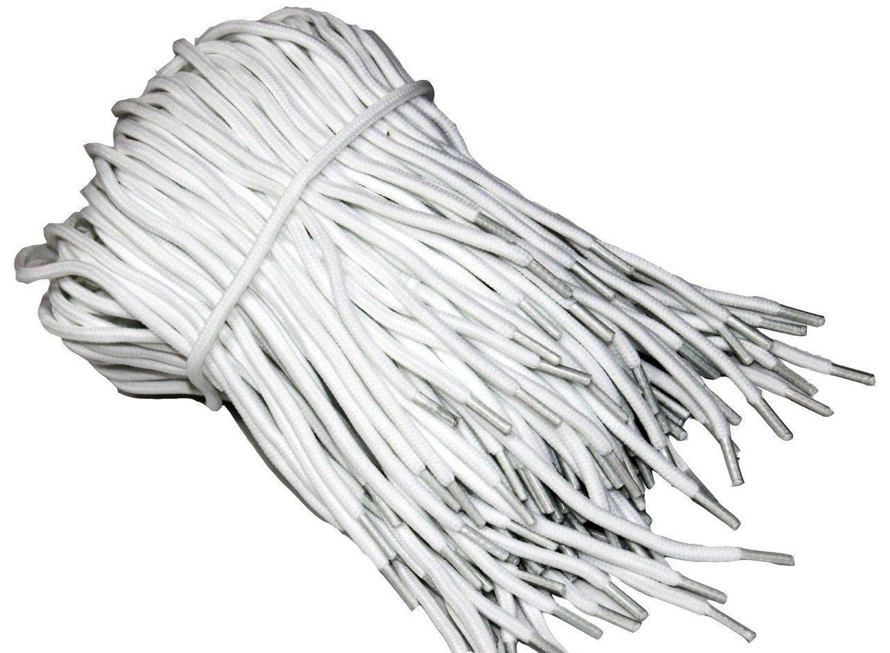 Шнурки для обуви (120см) круглые Белый