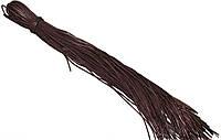 Шнурки для обуви с пропиткой (100см) круглые, темно-коричневые