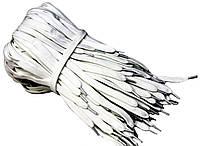 Шнурки для обуви (150см) плоские Белый