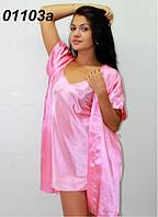 Комплект шелковый короткий , в размерах S ,М , фото 1