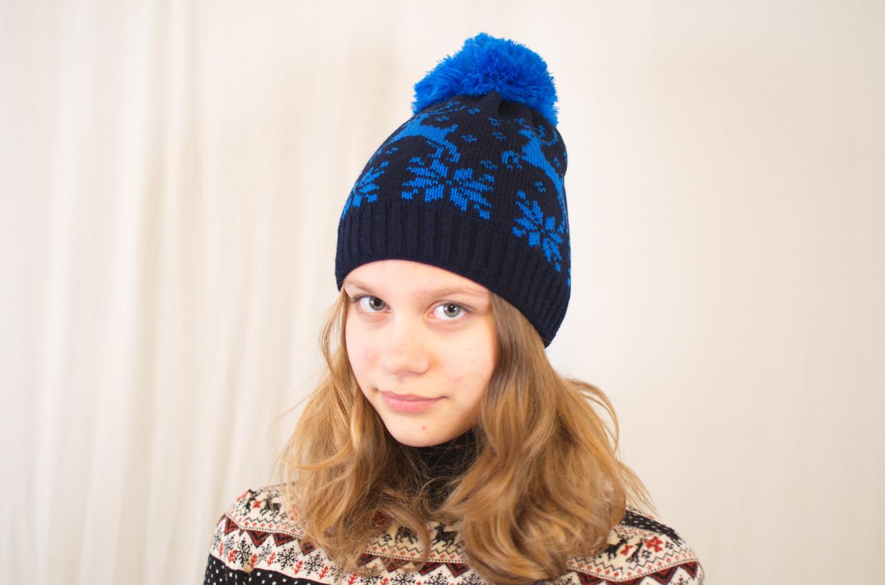 Вязаная детская и подростковая шапочка для девочек