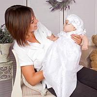 Детский берет Варечка от Miminobaby  40-44 см белый