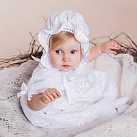 Детская шапочка Варвара от Miminobaby  36-40см белая
