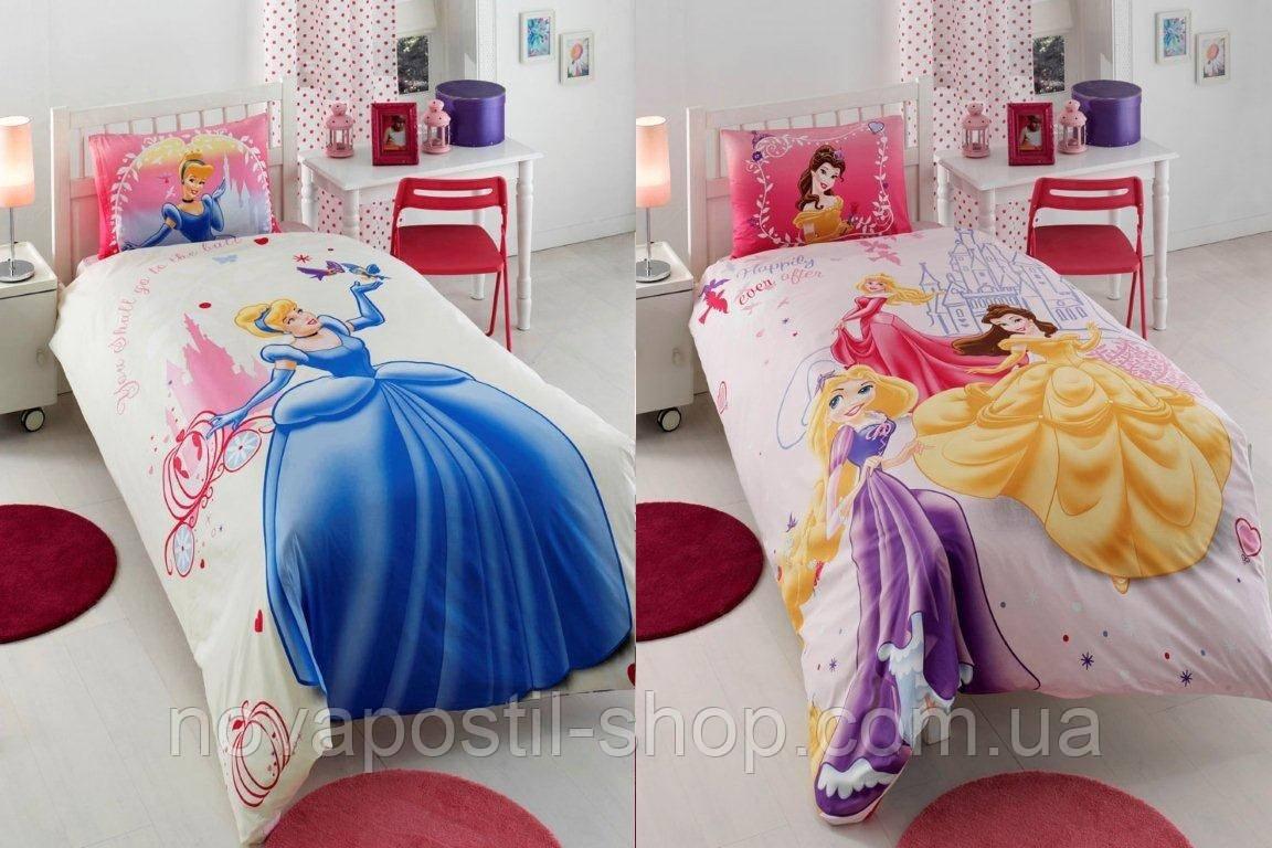 Комплект постельного белья TAC Princess happily ever after двусторонний