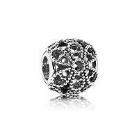 Шарм Pandora Ажурный цветок, серебро