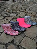 Сапоги резиновые женские ,полусапожки разные цвета